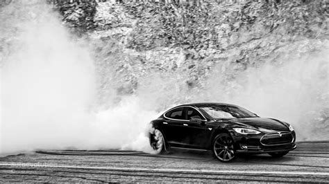 Tesla Model S Doing Monster Burnouts