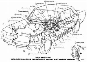1964 1  2 Mustang Washer Foot Pump Wiring