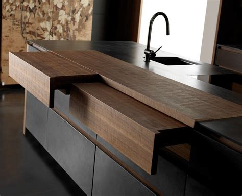 Idea Kitchen Island - sliding countertops and hideaway kitchen features