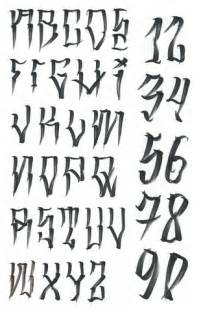 West Coast Style Tattoo Lettering Fonts