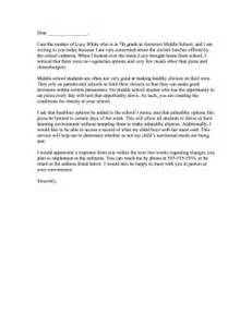 how to write a plaint letter school
