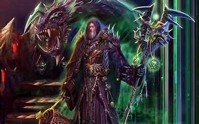 Fantasy Magic Armor Staff Dragons Warrior Wizard