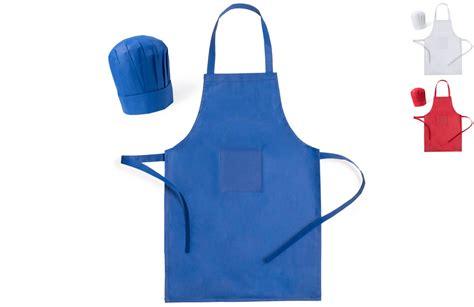 tablier et toque de cuisine tablier et toque pour enfant à personnaliser