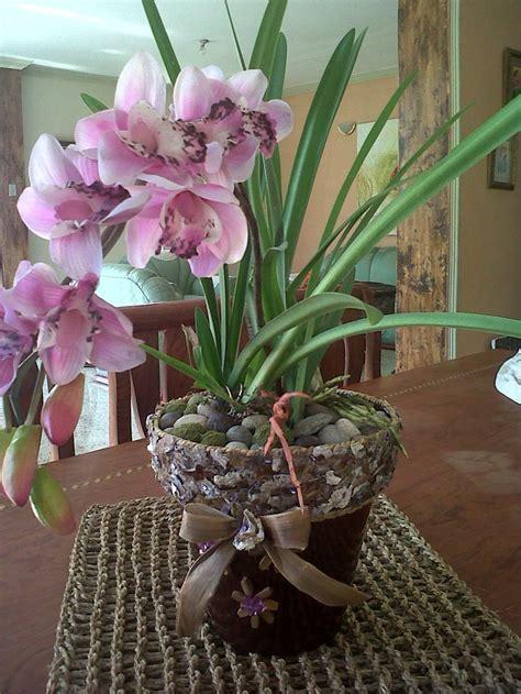 orquideas artificiales fusionadas  hojas naturales
