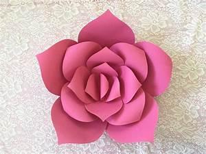 Flores Decorativas Gigantes De Papel Cartulina 50 Cm :) $ 60 00 en Mercado Libre