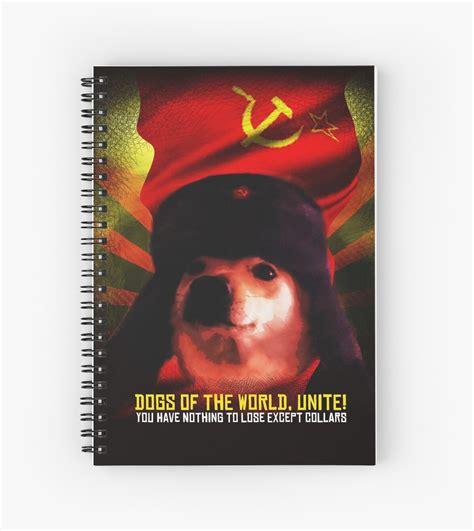 Communist Comrade Doggo Meme Funny Doge Dog Jimbo With