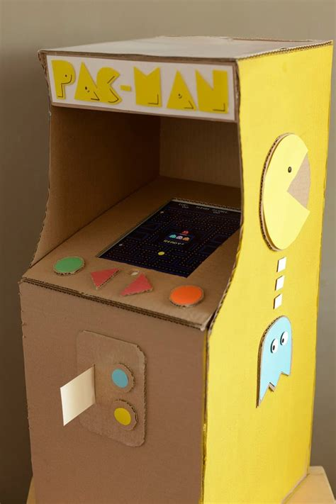 cardboard arcade  diy gifts popsugar smart living