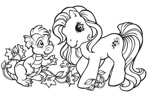 9 mewarnai kuda my pony