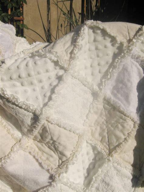 shabby chic white quilt shabby chic wedding rag quilt reserved for joanne white quilts wedding and shabby chic