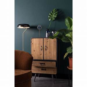 Buffet Metal Et Bois : buffet haut vintage bois et m tal gin dutchbone drawer ~ Melissatoandfro.com Idées de Décoration
