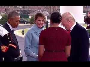 Obamas Welcome Donald Trump, Melania to White House - YouTube