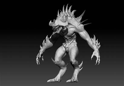 Monster 3d Giant Models Cgtrader Sci Fi