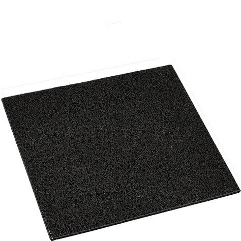 tapis 40x40cm en coco coeur rouge pour cubic paillasson design