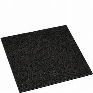 Tapis En Caoutchouc : tapis 40x40cm en caoutchouc noir pour cubic paillasson grille ~ Dode.kayakingforconservation.com Idées de Décoration