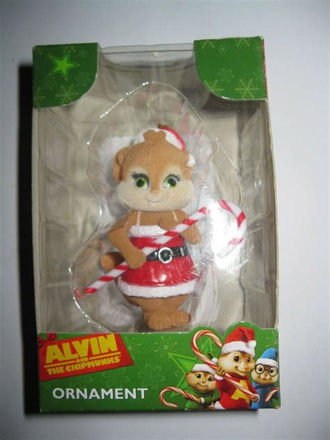 alvin and the chipmunks ornament flocked chipettes eleanor ebay