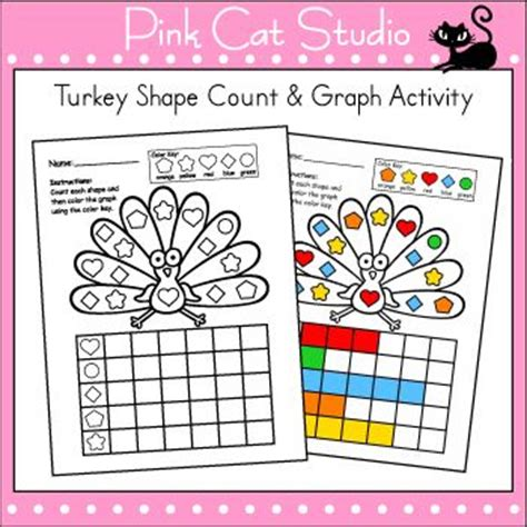thanksgiving activities graphing shapes thanksgiving