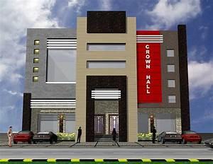 3D Front Elevation com: 3D Front Elevation of Plaza