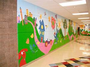 Images about mural and school wall ideas on