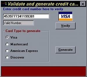 Card Number Visa : credit card validate and generate credit card numbers by mark duhaime from psc cd ~ Eleganceandgraceweddings.com Haus und Dekorationen