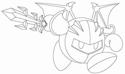 Meta Knight Coloring Pages Kirby Drawing Printable