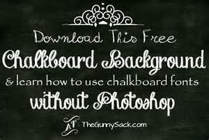 Free Chalkboard Font Photoshop