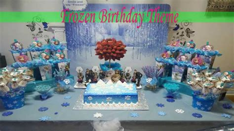 table centerpiece ideas frozen birthday theme ideas ملكة الثلج فروزن
