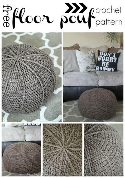 free crochet floor pouf pattern 187 dragonfly designs