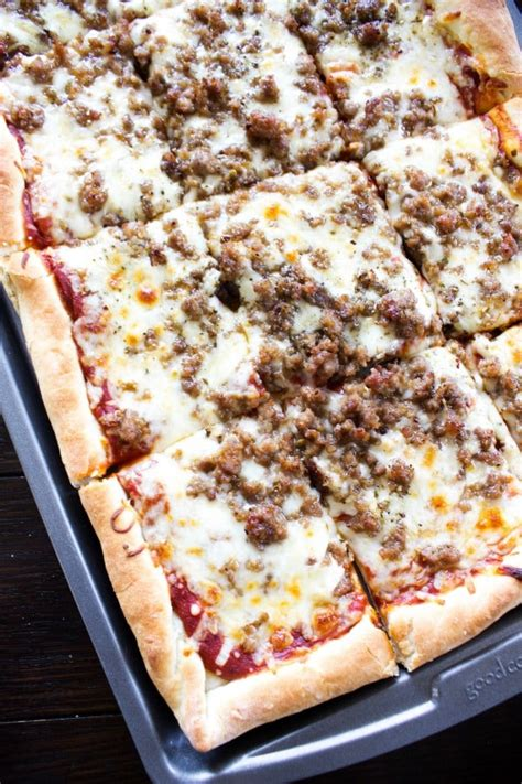 pizza sheet pan recipe don favorite homemade baking cheese crust sanity forget go later board scratch slice