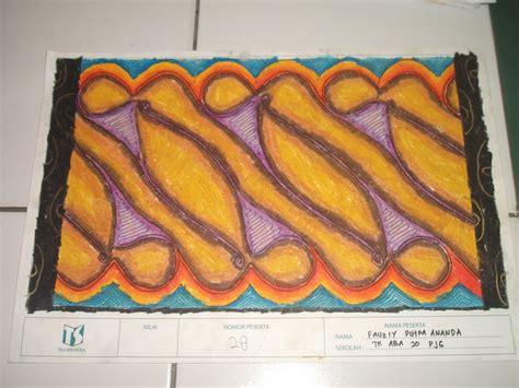 mewarnai pola batik untuk anak tk