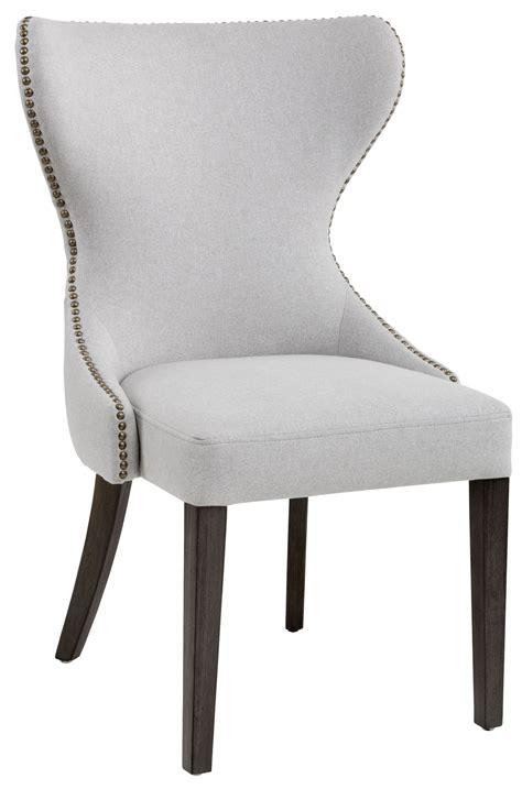 Ariana Light Grey Fabric Dining Chair, 101150, Sunpan