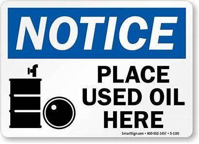Oil Waste Signs Sign Labels Mysafetysign Place