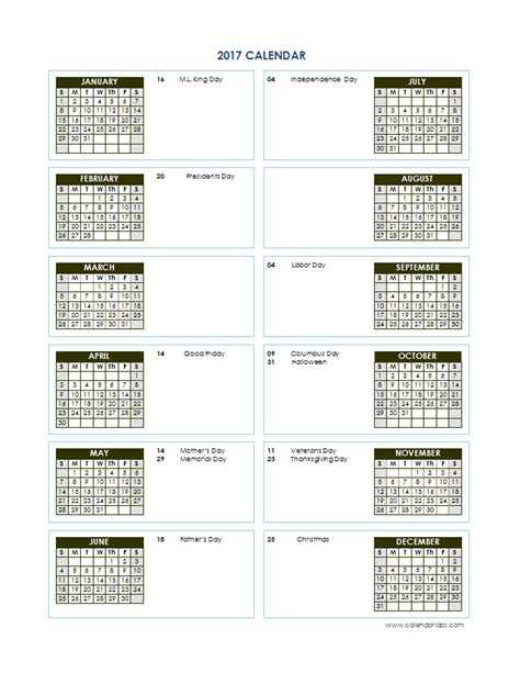 annual calendar template 2017 yearly calendar template vertical 02 free printable templates