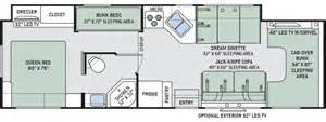 Best Class C Rv Floor Plans by 33ft Thor Chateau W Slide Out H California Motor