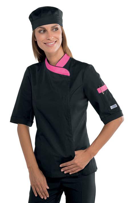 tenue cuisine veste de cuisine femme manches courtes et