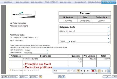 modele facture excel gratuit 224 t 233 l 233 charger