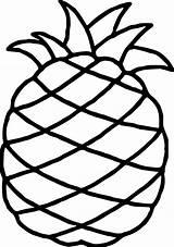 Pineapple Coloring Hawaiian Wecoloringpage Tiki sketch template