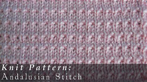 andalusian stitch knit