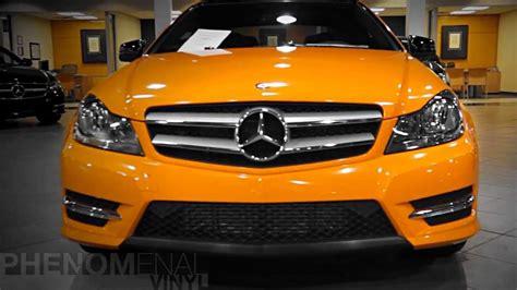 mercedes benz  massapequa orange vinyl wrapped
