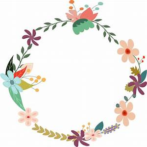 Circle clipart floral - Pencil and in color circle clipart ...
