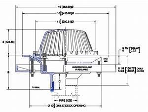 Wade 3000 Roof Drains Specs  U0026 Options