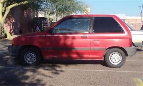 1989 ford festiva survivor not chevette omni or horizon ford festiva 1989 for sale ford festiva 1989 for sale in mesa arizona united states