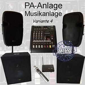 Musikanlage Selber Bauen : pa anlage musikanlage dj anlage party richtfest ~ A.2002-acura-tl-radio.info Haus und Dekorationen