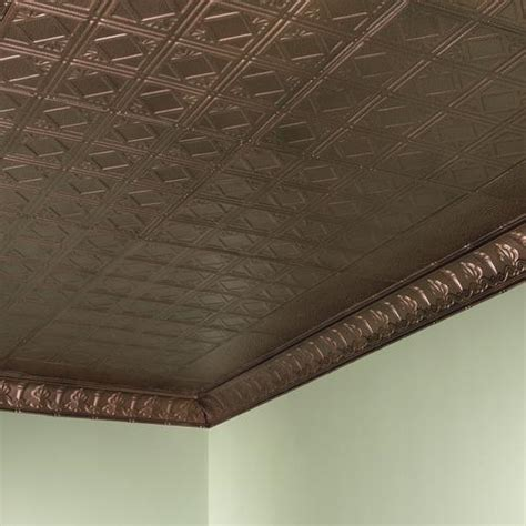 Find glass penny round tile. Great Lakes Tin Ludington 2' x 2' Nail-Up Ceiling Tile at Menards®