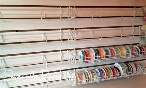 slatwall sticker  roll shelves  ribbon storage