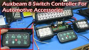 Auxbeam 8 Switch Controller For Automotive Lighting And