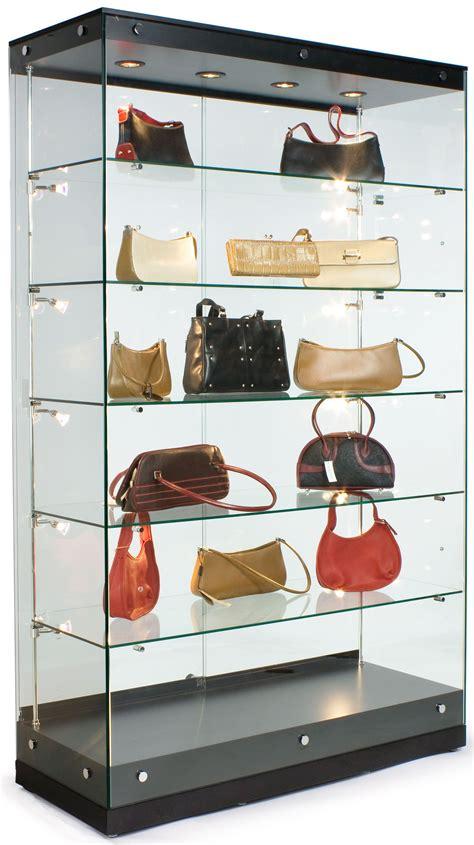 48 Glass Display Case Wframless Design Adjustable