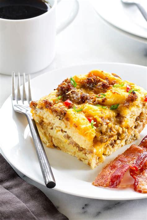 make breakfast casserole make ahead breakfast casserole my baking addiction