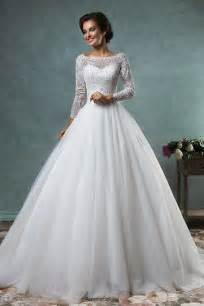 wedding gowns with sleeves 3 4 length sleeve princess lace wedding dress 2016 beadings products 27dress