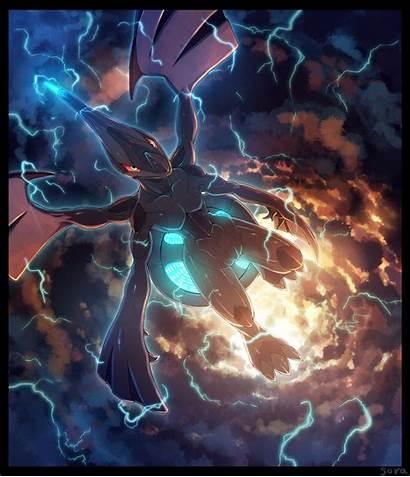 Zekrom Pokemon Anime Pixiv Powerful Pokemon Zerochan