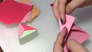 Box Selber Basteln : dreieckige origami box selber machen papier box anleitung ~ Lizthompson.info Haus und Dekorationen